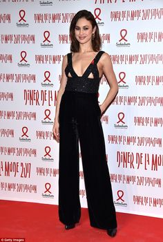 Bond babe Olga Kurylenko flashes her bare breasts in Paris Jump to it in velvet jumpsuit like Olga C Velvet Jumpsuit, Black Jumpsuit, Olga Kurylenko, Hollywood Party, French Actress, Hot Outfits, Red Carpet Fashion, Cool Girl, Celebrity Style