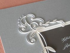 Cool Idea - Quilled and Framed Wedding Invitation by Ann Martin via Oh So Beautiful Paper