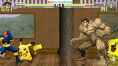 SpongeBob SquarePants & Pikachu The Pokemon VS Sandman & Nova In A MUGEN Match / Battle / Fight This video showcases Gameplay of Pikachu The Electric Type Pokemon And SpongeBob SquarePants VS Sandman The Supervillain And Nova The Superhero In A MUGEN Match / Battle / Fight