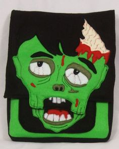 Zombie Felt IPad/Hip Bag/Purse Backpack made from Recycled Water Bottles. $45.00, via Etsy.