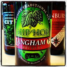 Langham Brewery Hip Hop Premium Blonde Beer - 4% ABV - a great blonde ale with hoppy citrus aroma leading to an excellent dry finish with a clean crisp taste