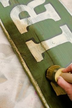 Antique sign tutorial by Miss Mustard Seed