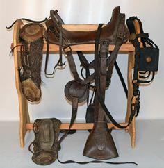 Cowboy Gear, Western Horse Tack, The Donkey, Horse Saddles, Donkeys, Old West, Figure Painting, Or Antique, Pond