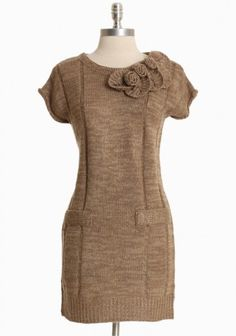 I have been looking for a sweater dress for a long time. Now that we are getting toward the end of winter, I found one