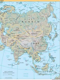 asia physical map asian physical map map of asia asia map asia polical map