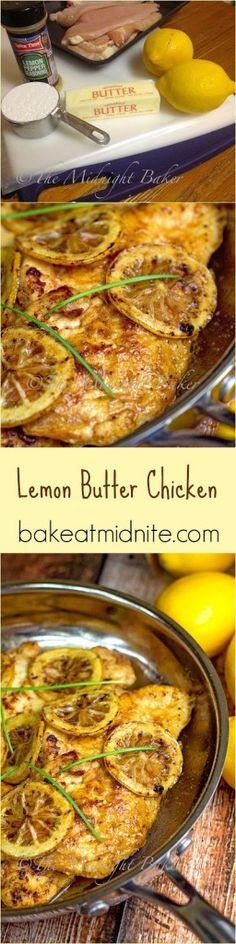 Lemon Butter Chicken by bakeatmidnite #Chicken #Lemon #Butter