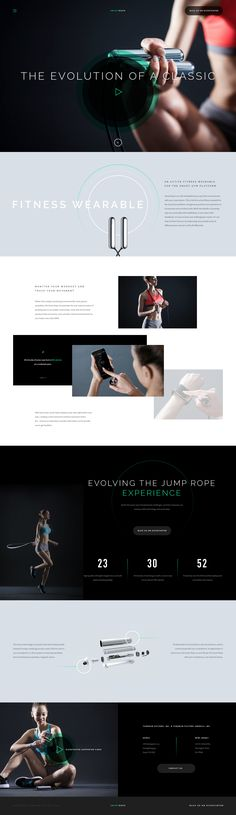 Smart Rope: quick make landing page Ui concept design, by Myles Kedrowski on dribbble.