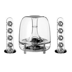 Hubert keeps his music sounding spectacular with SoundSticks by Harman Kardon (www.wwstereo.com) #Speakers