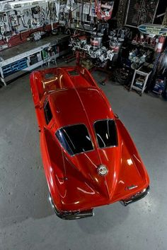 1963 Corvette Sting Ray Sport Coupe - In classic Riverside Red