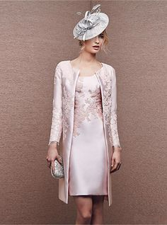 Pink Applique Mother Of The Bride Dress Formal Outfit Mum Coat Free Long Jacket Mother Of The Bride Dresses Long, Mother Of Bride Outfits, Mothers Dresses, Pink Wedding Guest Dresses, Dress Wedding, Elegant Dresses, Formal Dresses, Party Dresses, Dresses Dresses