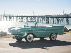 This 1965 #Amphicar 770 will be featured at #TheScottsdaleAuction , you can get pre-approved for auction by applying online with Premier. Visit www.pfsllc.com and get on the #road (Image Source: rmsothebys.com Lot #105)
