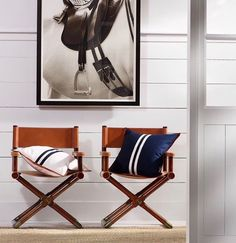 "Studio Marenzo on Instagram: ""Chic Modern Director's Chairs we designed during my time at Ralph Lauren. Photo credit: Ralph Lauren Home. #furnituredesign #chairdesign…"""