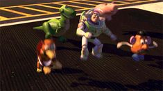 "Pin for Later: Toy Story GIFs That Make You Feel All the Feelings When this scene happens and you just wanted to see it set to the tune of House of Pain's ""Jump Around."""