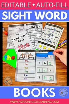 These editable sight word books will allow students to practice sight words in a variety of ways. The best part about these editable sight word books is that you can make a book for any sight word of your choice instantly. These are editable sight word books are packed with TONS of activities: Tracing, Writing, Find and Color (mixed with other sight words of your choice), Rainbow Write, Missing Letters, Sight Word Unscramble, Sorting, Reading Sentences (with the sight word included), and more!