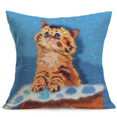 15 Styles Animal Pillow Case Cotton Linen Cushion Cover Sofa Decor