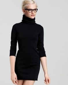 Little black turtleneck dress. Pinned on behalf of Pink Pad, the women's health mobile app with the built-in community