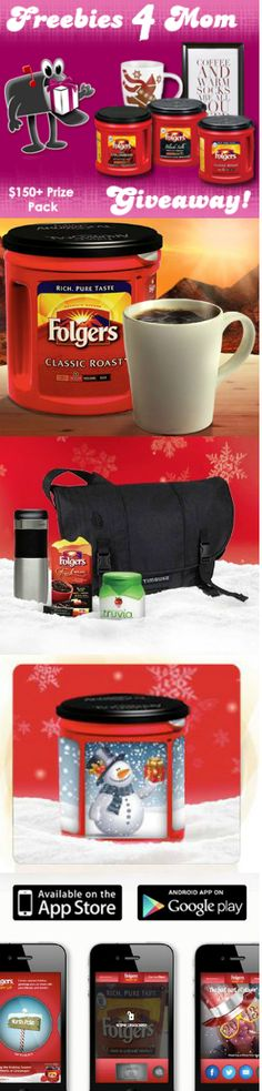 Want to win a Folgers Holiday Exclusives Coffee Kit (150 dollar value)? Ends Dec. 5. Enter here ---> http://freebies4mom.com/2012/11/29/folgersholiday/