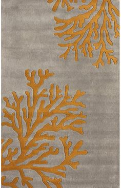 Hand Tufted Wool NEW Area Rug Modern Grey 8x10 Coral