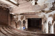 The photographer used to target abandoned buildings in general before developing a specialised interest in theatres, such as this, the Grand Theatre in Steubenville, Ohio.