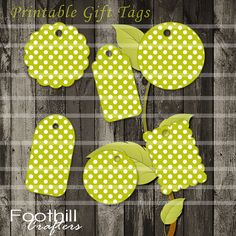 INSTANT DOWNLOAD Green and White Polka Dot Combo Gift Tags, Printable Digital Collage Sheet, Different Sizes, Gifts, Labels, Scrapbooking #gift #tags #polkadots #green_tags #labels #printable_tags