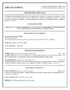Phlebotomy Resume Objective Resume Cover Letter Samples For Phlebotomists Sample Phlebotomist