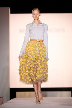 www.imdb.me/jessicasirls  fashion style tulle skirt floral spring summer yellow  Spring Fashion Trends 2015 | POPSUGAR Fashion