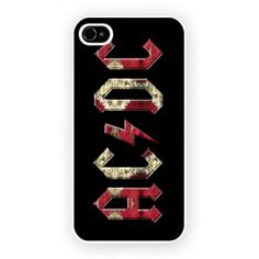 ACDC red Hard Cover Case iPhone WORLDWIDE SHIPPING!!