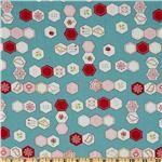Moda Sew Stitchy Hexagons Glass