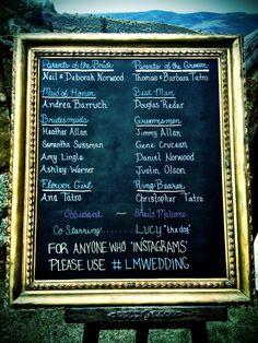 Chalkboard Wedding Program!