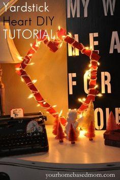 Yardstick Heart DIY Tutorial and Valentine Decor