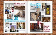 magazine layout ideas | The Loft Magazine Layout | Yearbook Design Ideas