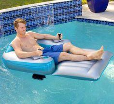 Pool Candy Motorized Pool Lounger Pineapple Pool Float, Inflatable Pool Loungers, Giant Inflatable, Luxury Pools, Pool Floats, Pool Toys, Pvc Vinyl, Swimming Pools, Cruise