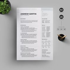Totally Unique Resume Template Stand Out Resume Two Page Cover