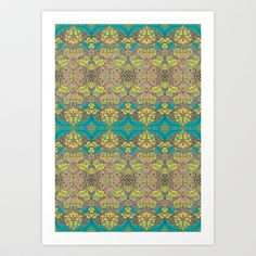 Blue Rose Art Print by Geetika Gulia - $16.00