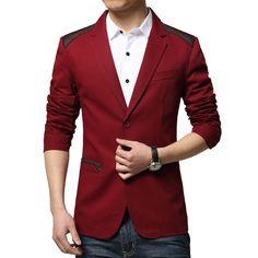 men blazer slim fit 2016 suit men Cotton and linen flower cloth ...