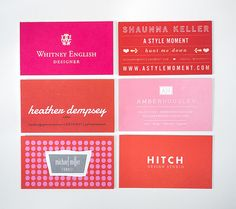 Alt Summit Business Cards 2013 - Red and Pink by CieraHolzenthal, via Flickr