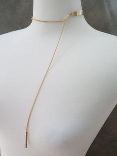 Choker / Chain choker / Gold metal choker / Choker necklace / Thin metal choker…