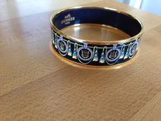 Vintage Hermes Gold Enameled Bracelet by MAGICALUNIVERSE on Etsy, $750.00