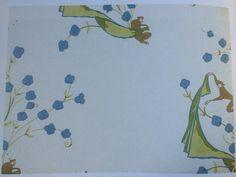 """""""Les singes"""". Papier peint. Dessin de Marie Laurencin, 1911. Alfred Hans et fils, Paris"""