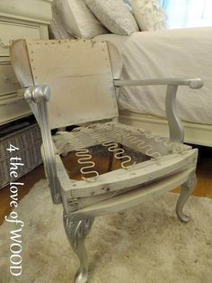 One of the best tutorials I've seen. Easy for the type chair I have. 4 the love of wood: UPHOLSTERY - how to