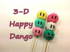 3-D Happy Dango Tutorial by feelinspiffy (Rainbow Loom) - YouTube