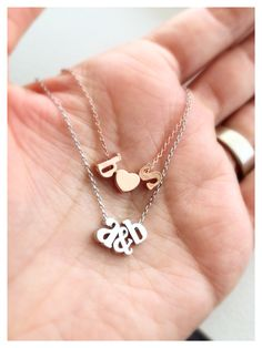 Personalized initial necklaces by Tom Design www.tomdesign.etsy.com #initial #necklace #personalized #bridal #jewelry #bridesmaid #gift