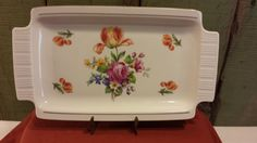 Colditz Pottery Serving Tray, Made in German Democratic Republic by 3OaksTreasure on Etsy