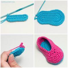 Búho botines del bebé - Crochet Patrón gratuito
