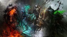 Dark Fantasy Illustrations Of The Four Horsemen