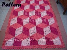 3D illusion blanket Crochet Pattern. Stacked by ColorfulLullabies