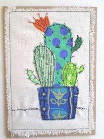 "My ""free range"" art cards This, that and everything inbetween: My ""free range"" art cards Benzer Modeller: Swirling Stars, Free Motion Quilting Tutorial Free Crochet Pattern Jungle Appliques These Free jungle appliqu… Cute and. Freehand Machine Embroidery, Sewing Machine Embroidery, Free Motion Embroidery, Machine Applique, Applique Design, Applique Patterns, Applique Quilts, Applique Ideas, Fabric Cards"