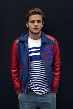In love with Varsity Jackets on men this fall