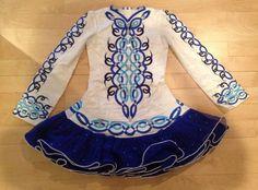 Sublime Blue Michelle Lewis Irish Dance Dress Solo Costume For Sale