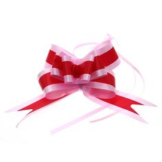 Ribbon Pull Bows Bowknot Garland for Wedding Car Deco Christmas Gift Packaging 10Pcs/Pack - Red ** Read more  at the image link.
